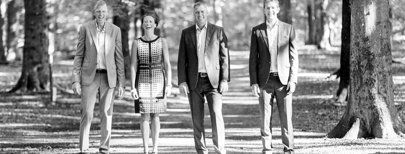 Ante Nilsson, Jessika Nilsson, Kalle Svensson och Henric Johansson är alla medarbetare på Bostad&Co