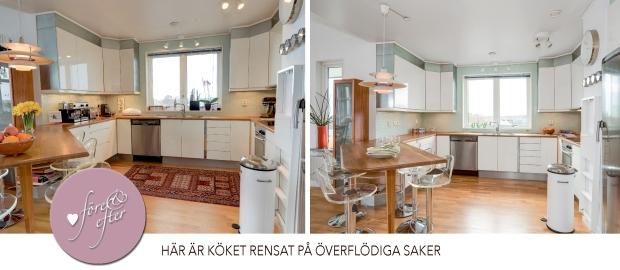 Före- och efterbilder av styling av kök!