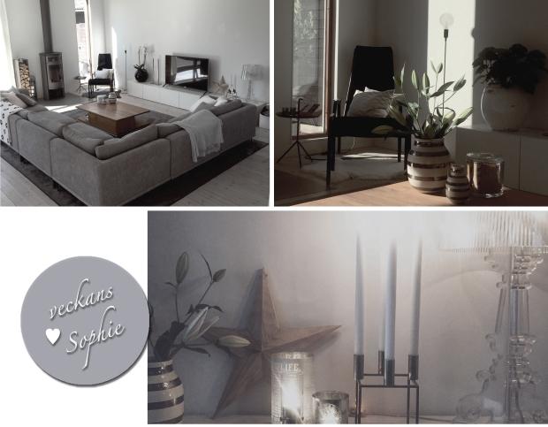 Ett välstädat hem är en bra start inför en försäljning! Bilden visar ett collage med inspirerande vardagsrumsbilder.
