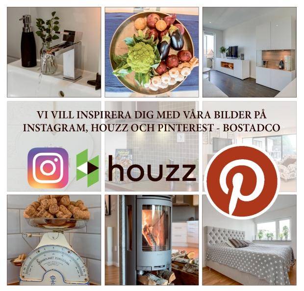 Detalj- och interiörbilder står i fokus när Bostad&Co inspirerar på Instagram, Houzz och Pinterest