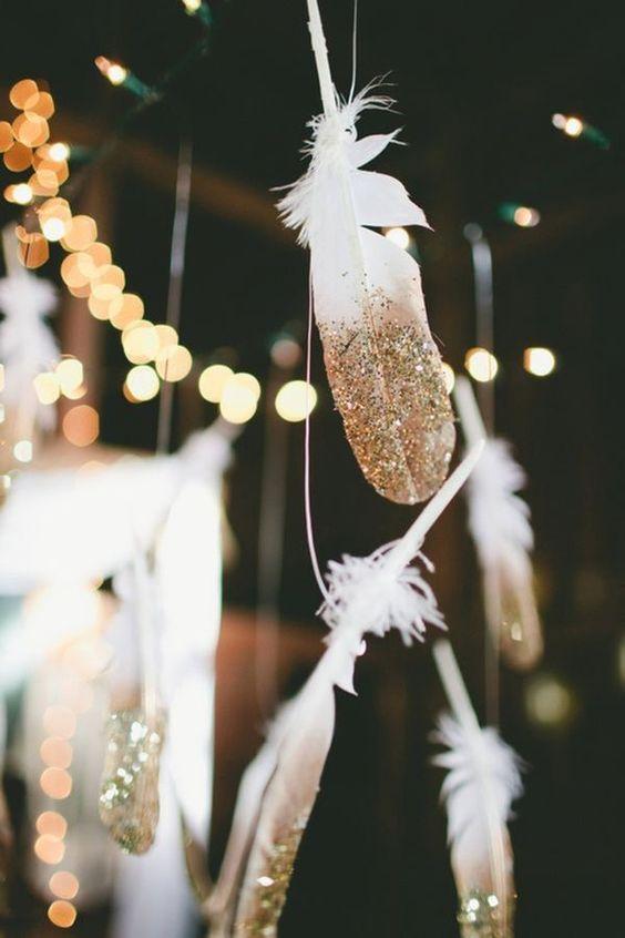 Glittriga fjädrar till nyår