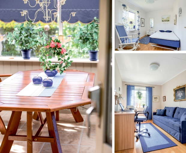Bilder på villa inredd i blått