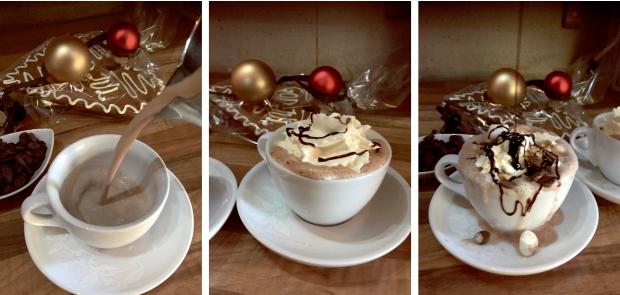 Varm choklad med extra allt - när Daniel på Skånskan i Halmstad får bestämma ser de ut så här!