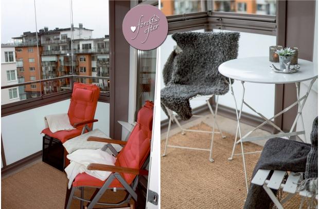 Före- och efterbilder på balkongen