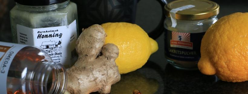 honung, citron, omega-3, lakritspulver och te