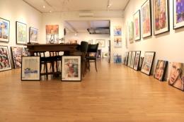 Lokalerna på Galleri Black & White Art i Halmstad