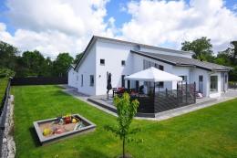 Putsad villa i Halmstad
