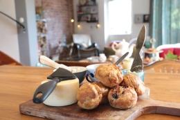 scones I köket hos Sanjay