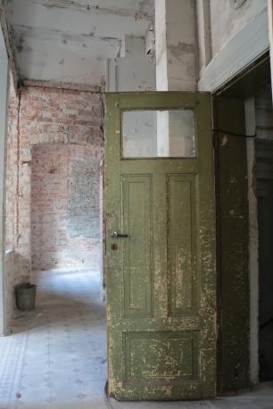 Dörr i Doktorsvillan i Halmstad