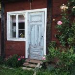patinerad dörr