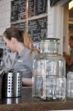Söderpiren i Halmstad, vattentapp i glasburk