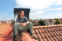 Peter Alkeryd på taket