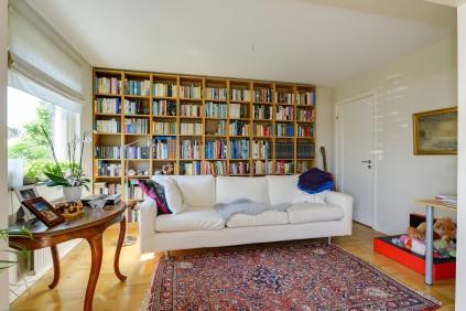 När bokhyllan täcker en hel vägg! Foto: Fredrik Andersson, xcLens
