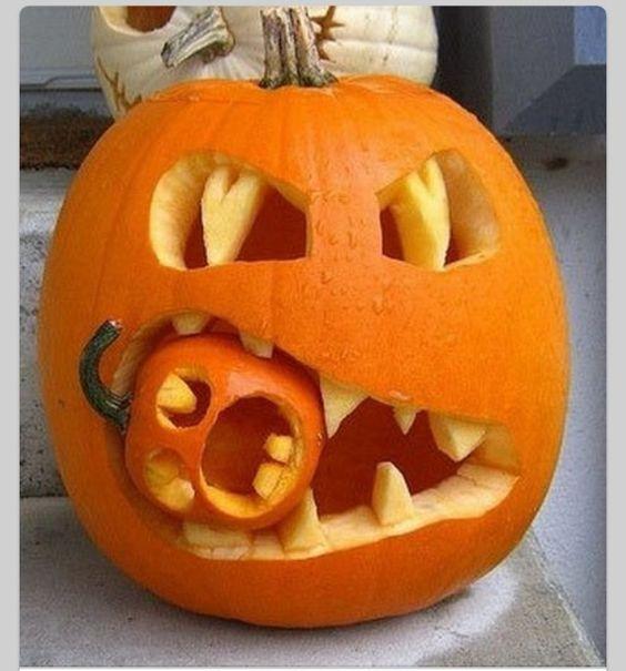 Jack o Lantern! Bilden är lånad från Pinterest och återfinns med länk på vårt konto där.