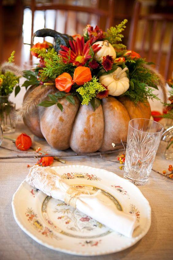 Vackra bordsdekorationer - Bilden är lånad från Pinterest och återfinns med länk på vårt konto där.