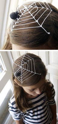 Fin i håret med spindelvävshatt! Bilden är lånad från Pinterest och återfinns med länk på vårt konto där.