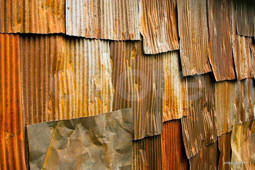 Corrugated iron. Bild: azote.se