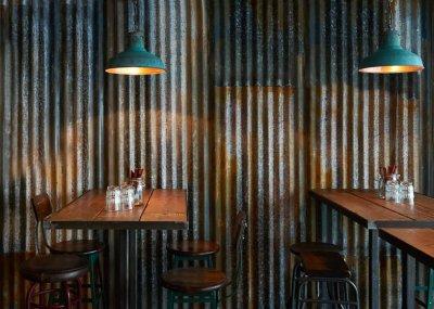 Snyggaste väggen!! Bild: Barnyard-Soho-restaurant-by-Brinkworth_dezeen