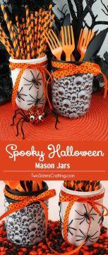 Förvaringsburkar för bestick till Halloween. Bilden är lånad från Pinterest och återfinns på vårt konto där.