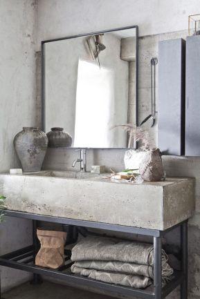 Snyggt tvättställ i betong! Bild: COCOON