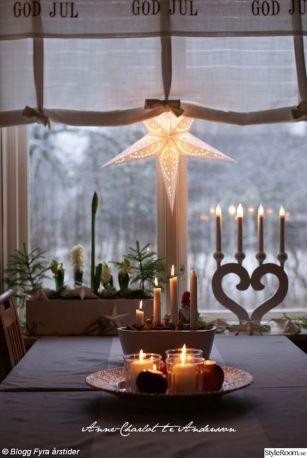 Stjärna OCH stake i fönstret funkar hur fint som helst! Foto lånat från: Ann-charlotte Andersson