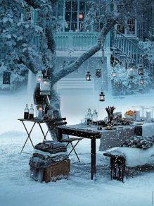 Vintermysig glöggbjudning utomhus! Bild lånad från dreamhousecammy.blogspot.hu