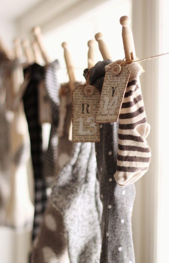 Julstrumpor. Bild lånad från idemakeriet.blogspot.com