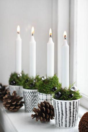 Ljus i söta koppar - enkelt och fint! Foto lånat från: Trendenser.se