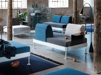 Soffa i byggbara moduler, Delaktig, av Tom Dixon för IKEA.
