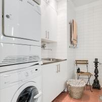 Tvättstuga i badrum
